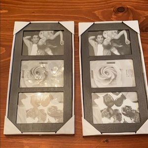 Triple 4 x 6 picture frame (with 3 openings) grey